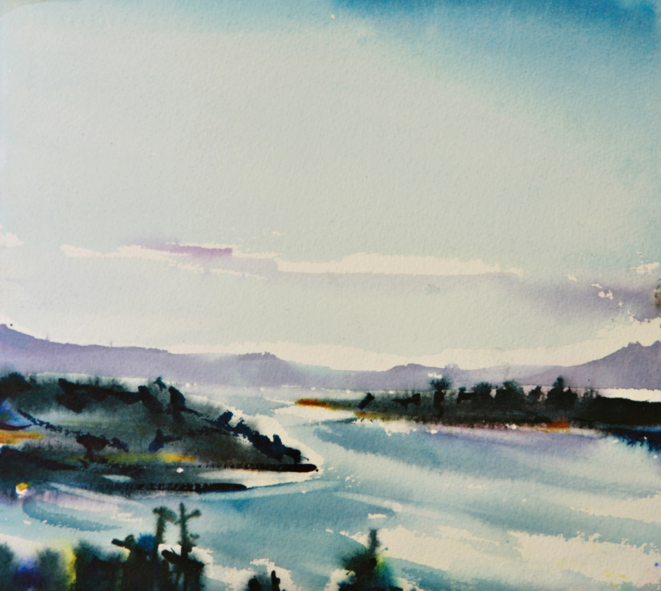 Watercolor paintings of Victoria BC for sale