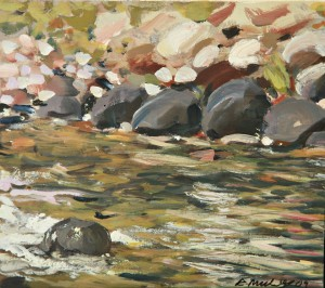 Painting of river rocks for sale