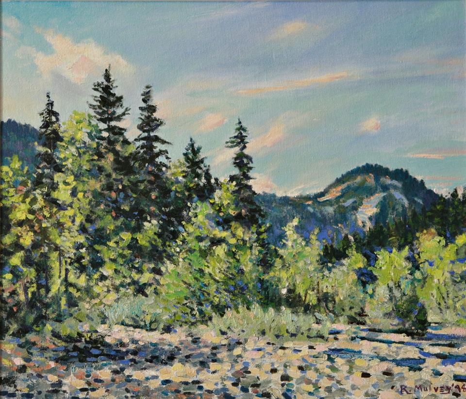 Summer forest landscape painting for sale