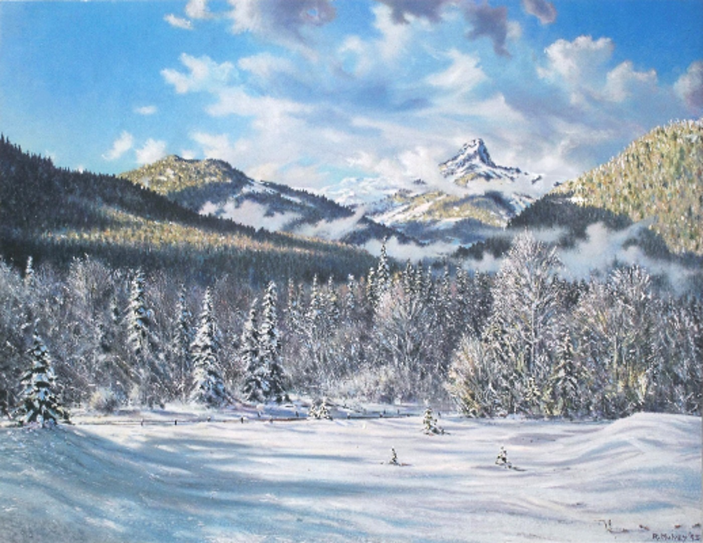 acrylic painting of Winter Light